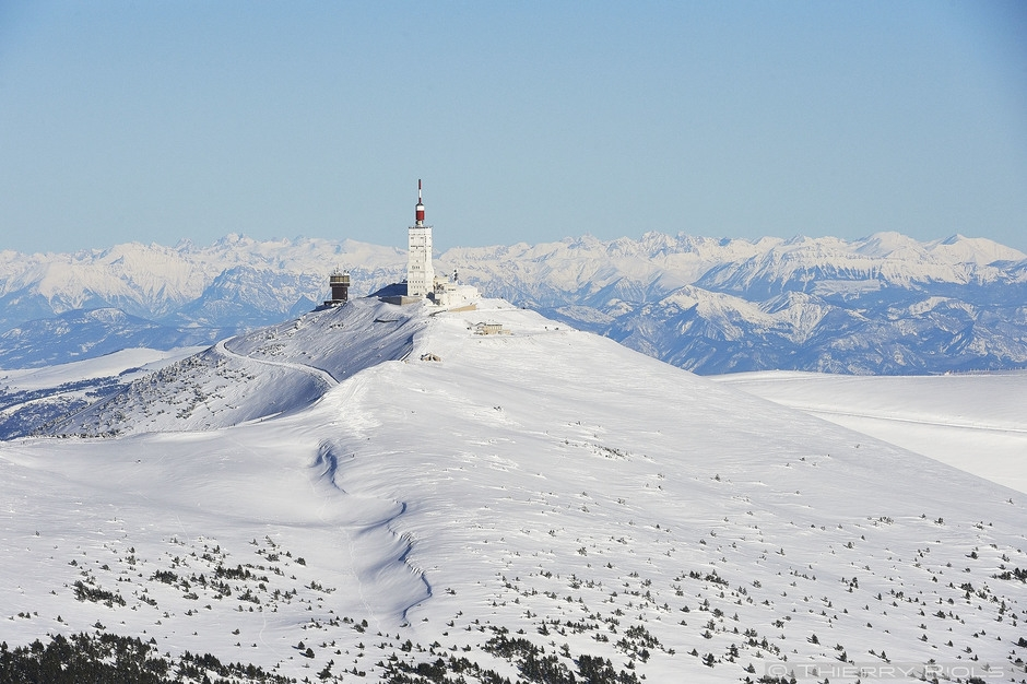 Photo aérienne du Mont Ventoux France