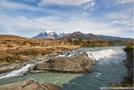 Waterfalls rio Paine Torres del Paine Patagonia Chile
